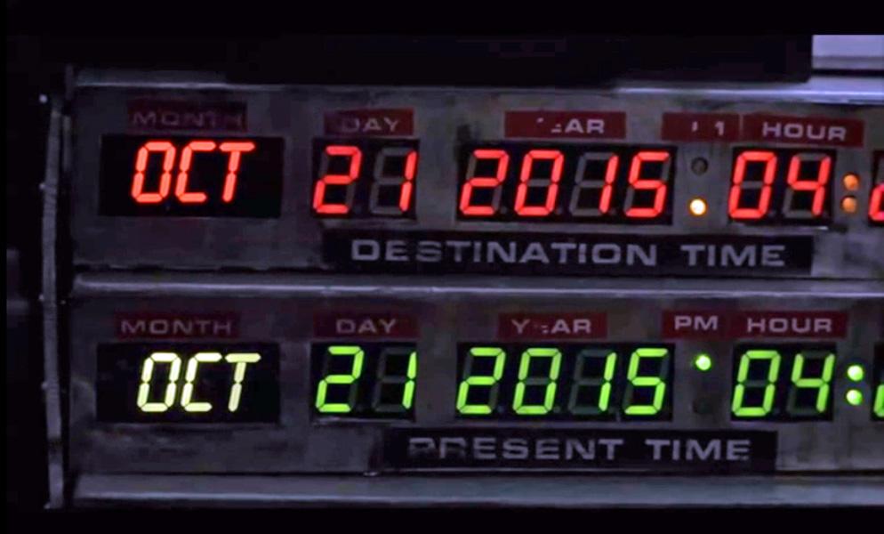 Zeituhr bei Zurück in die Zukunft