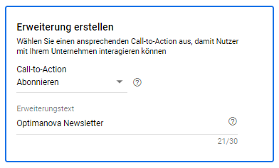 Call to Action erstellen